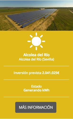 Proyecto Generation kWh Alcolea del Río