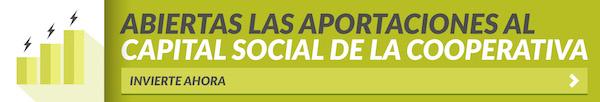 ¡Invierte al capital social de la cooperativa!